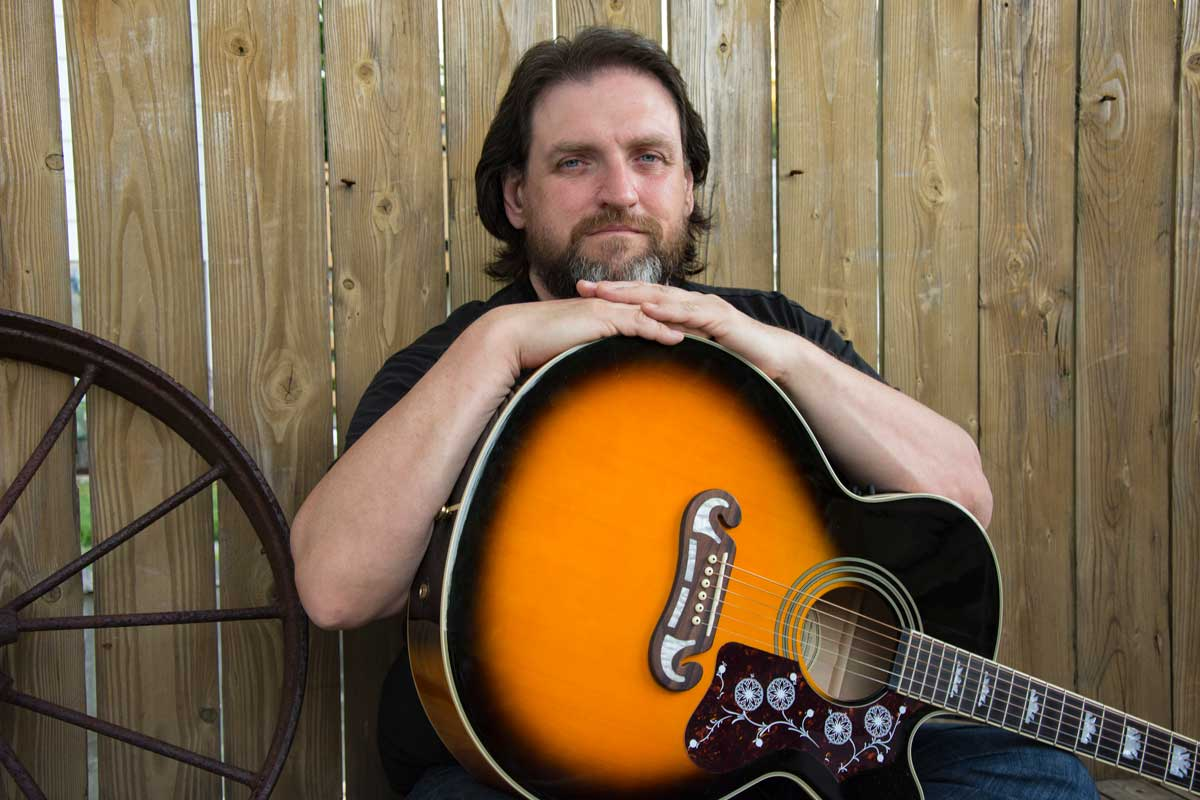 Mitch Ross - Canadian Songwriter - Musician - Guitar Player - Producer with his Epiphone EJ-200SCE